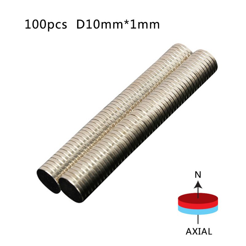 100Pcs Disc 5x1mm Neodymium Super Strong Rare-Earth N35 Small Fridge Magnets