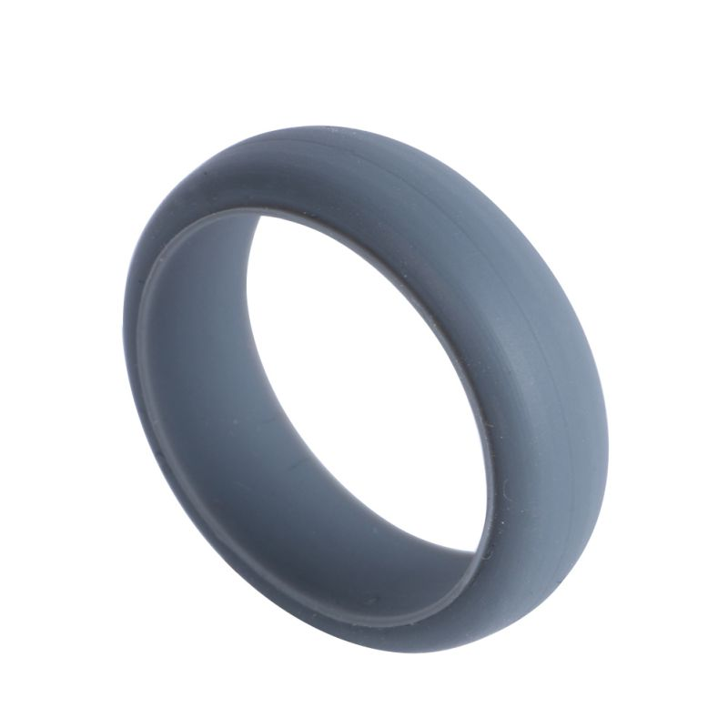 Hypoallergenic Wedding Rings: 7Color Men Women Silicone Wedding Band Rings