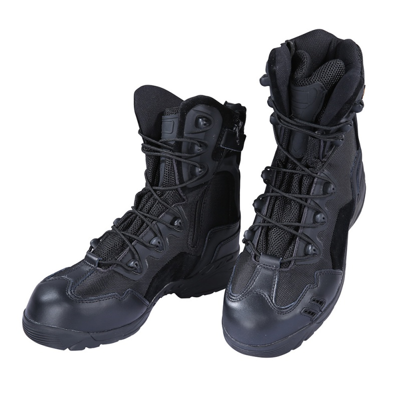 black army tactical comfort leather combat ankle