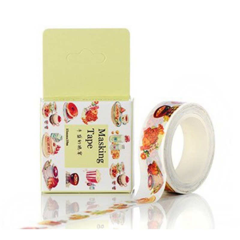 10m diy cartoon masking adhesive tape sticker craft decor for Adhesive decoration