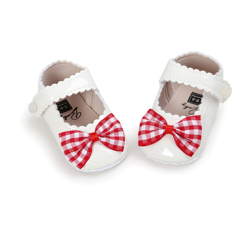Newborn Baby Girl Bowknot Casual Crib Pram Shoes Toddler Kids Cute Sole Sneakers