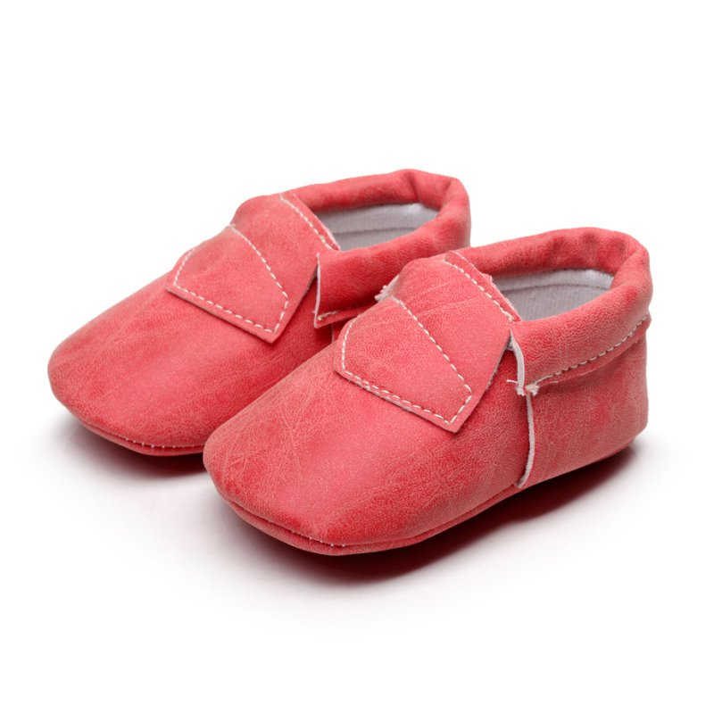 Baby Soft Sole Leather Shoes Toddler Infant Boy Girl
