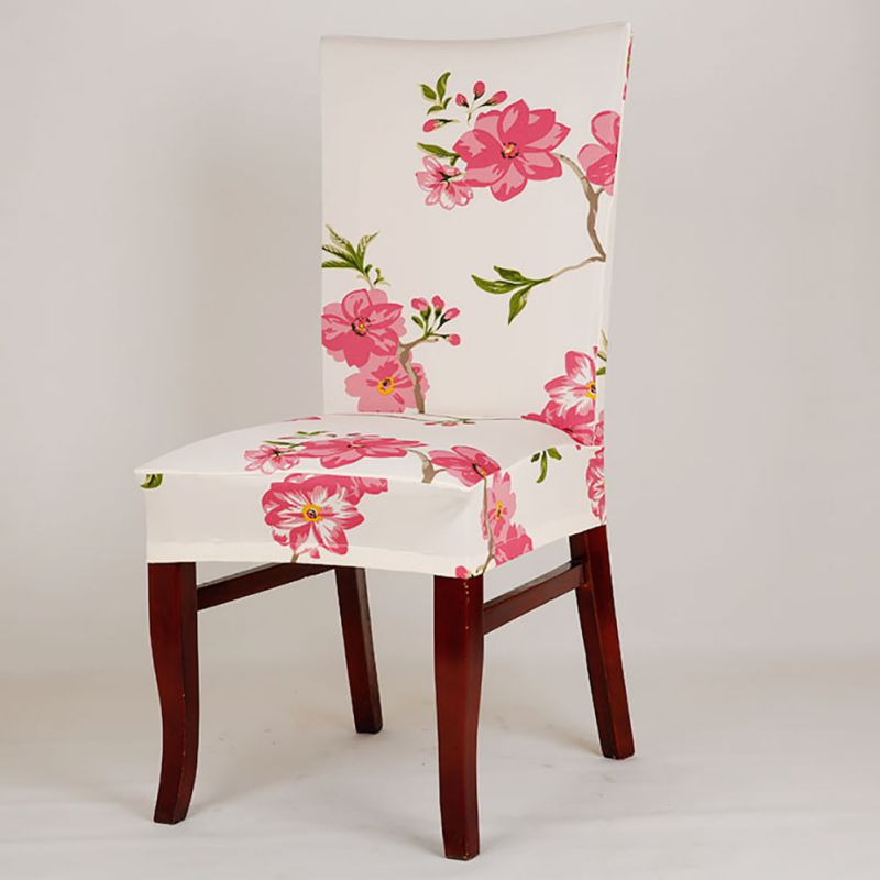 Floral Dining Room Chairs: Retro Floral Dining Room Wedding Banquet Elastic Chair