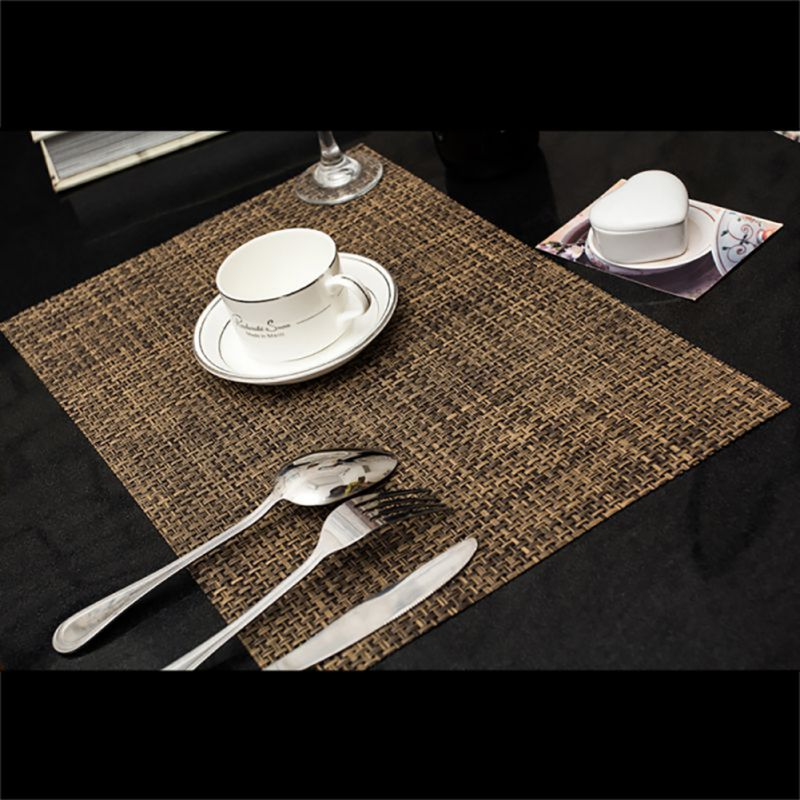6pcs Set Pvc Insulation Bowl Tableware Placemats Plate