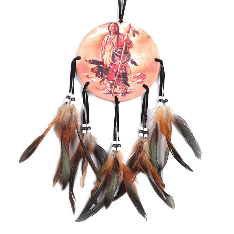 Dream-Catcher-with-Feather-Traditioanl-DIY-Handmade-Wall-Hanging-Ornament-Decor