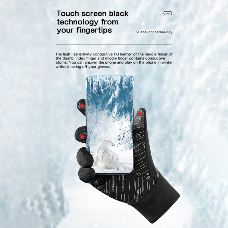 Details about  /Windproof Waterproof Winter Gloves Touch Screen Gloves Thermal Men Women Mittens