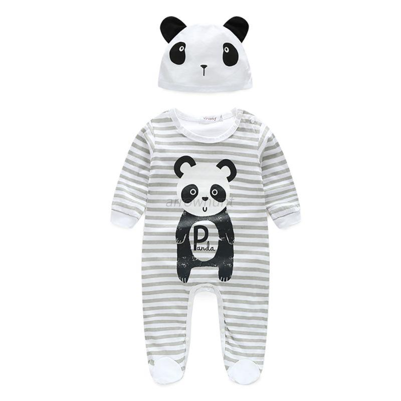 2PCS-Infant-Baby-Long-Sleeve-Rompers-Jumpsuit-Bodysuit-Hat-Outfits-Clothes-0-24M