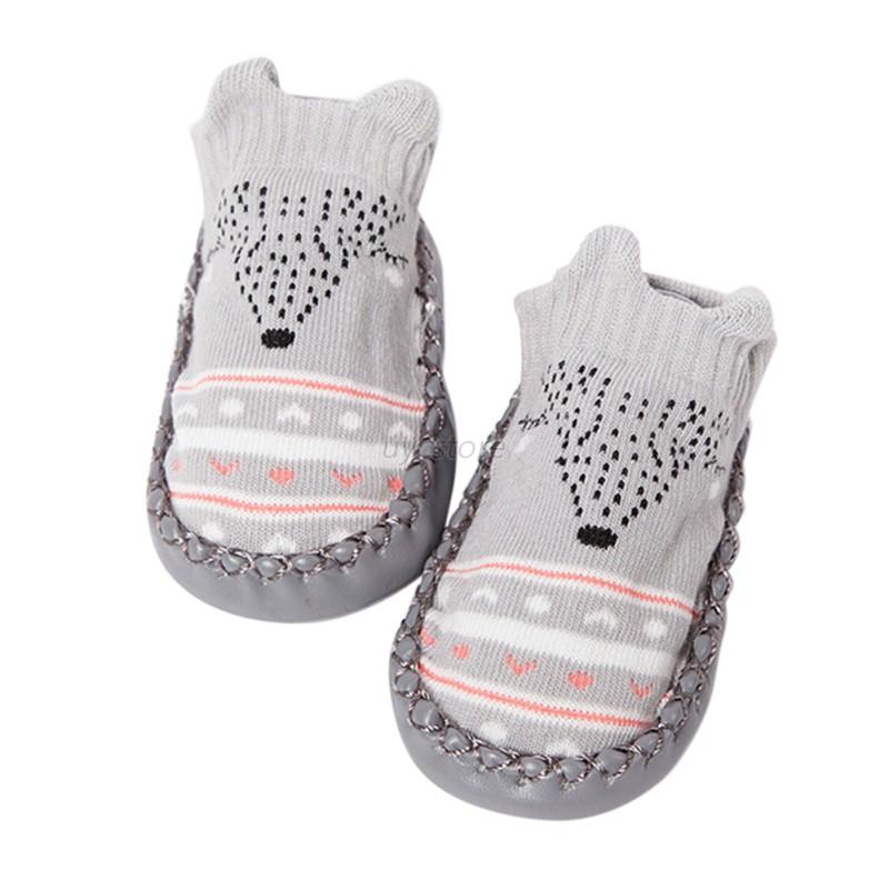 Newborn Baby Knitted Socks Shoes Winter Toddler Boy Girl Non-slip Soft Sole Boot