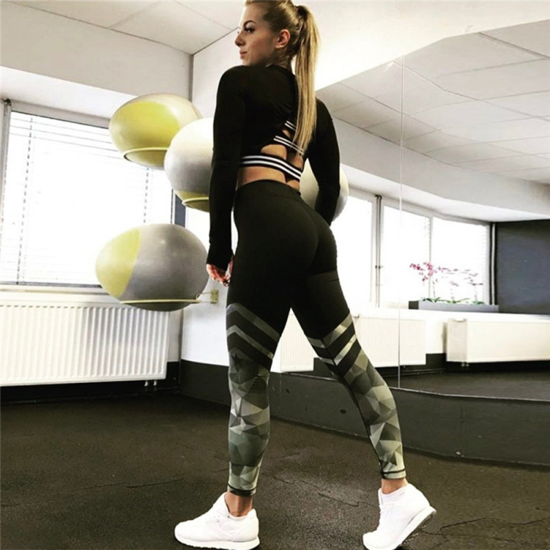 Womens-Sport-Yoga-Fitness-Leggings-Running-Gym-Stretch-High-Waist-Pants-Trousers