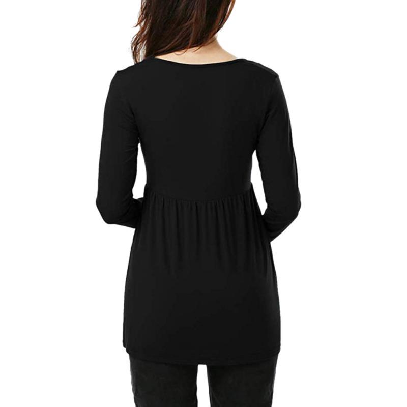 Women-Nursing-Pregnant-Maternity-Clothes-Long-Sleeve-T-Shirt-Loose-Blouse-Tops thumbnail 14