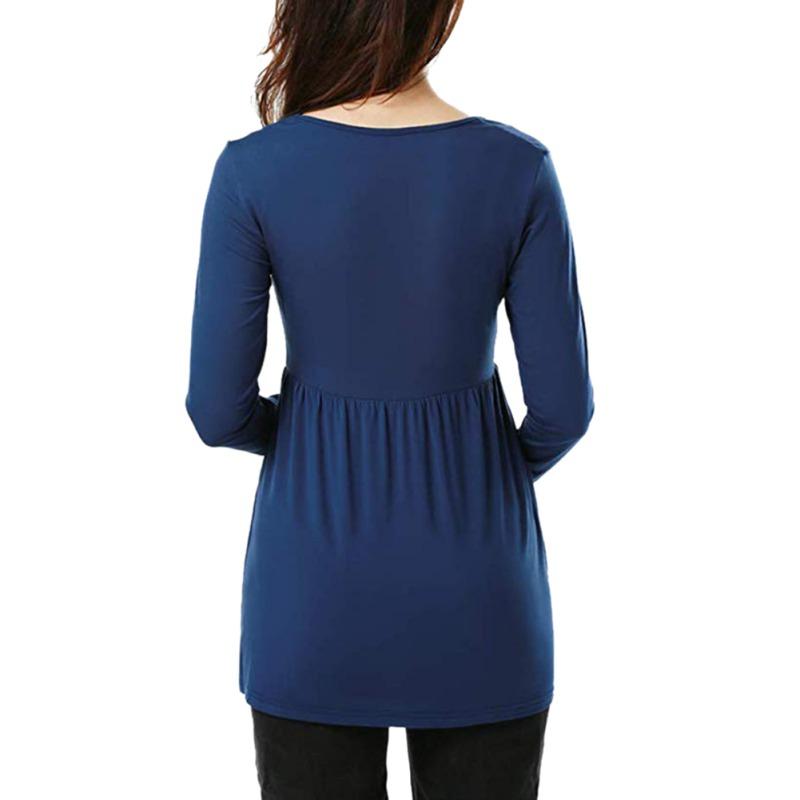 Women-Nursing-Pregnant-Maternity-Clothes-Long-Sleeve-T-Shirt-Loose-Blouse-Tops thumbnail 20