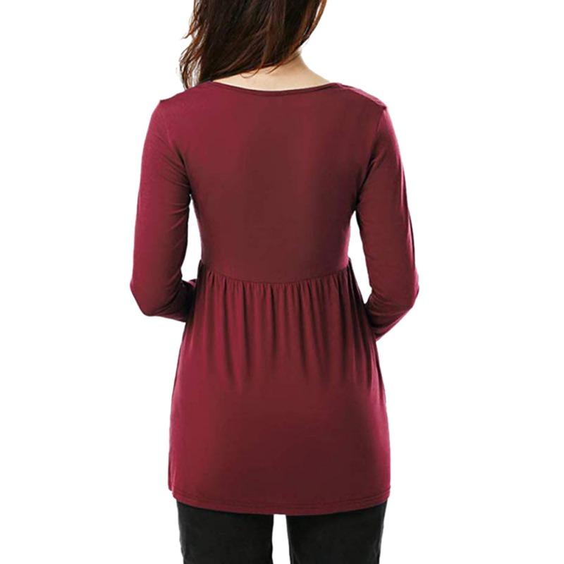 Women-Nursing-Pregnant-Maternity-Clothes-Long-Sleeve-T-Shirt-Loose-Blouse-Tops thumbnail 17