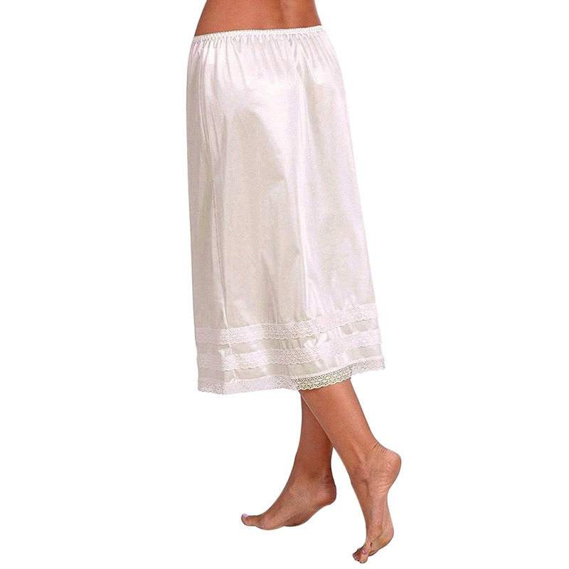 Gonna-lunga-da-donna-in-pizzo-elasticizzato-da-donna-Gonna-lunga-sottogonna miniatura 12