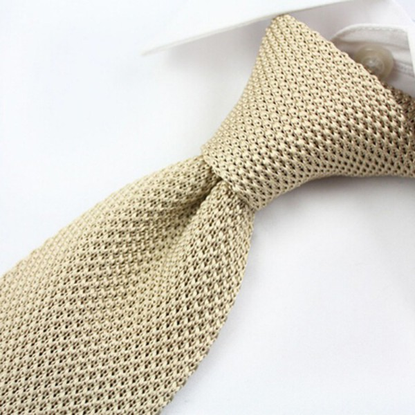 Mens Tie Knitting Pattern : Nice Mens Solid Tie Knit Knitted Tie Plain Necktie Narrow ...
