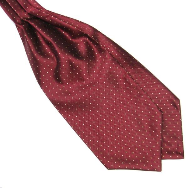 Men's Retro Polka Dot Long Silk Scarves/Cravat Ascot Ties Handkerchief Gentlemen