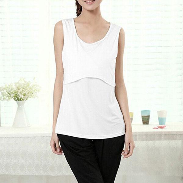 Women Maternity Summer Clothes Breastfeeding Nursing Modal ...