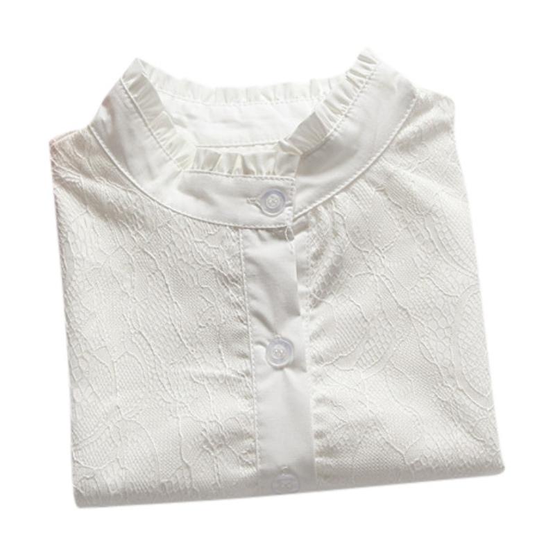 mode damen herren peter pan detachable lace lapel t shirt fake false collar tops ebay. Black Bedroom Furniture Sets. Home Design Ideas