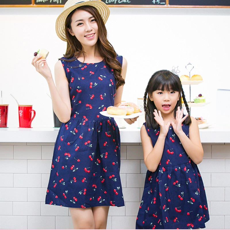 Mom Daughter Matching Dress Striped Cotton Casual Summer Mother Day Clothing New Ebay