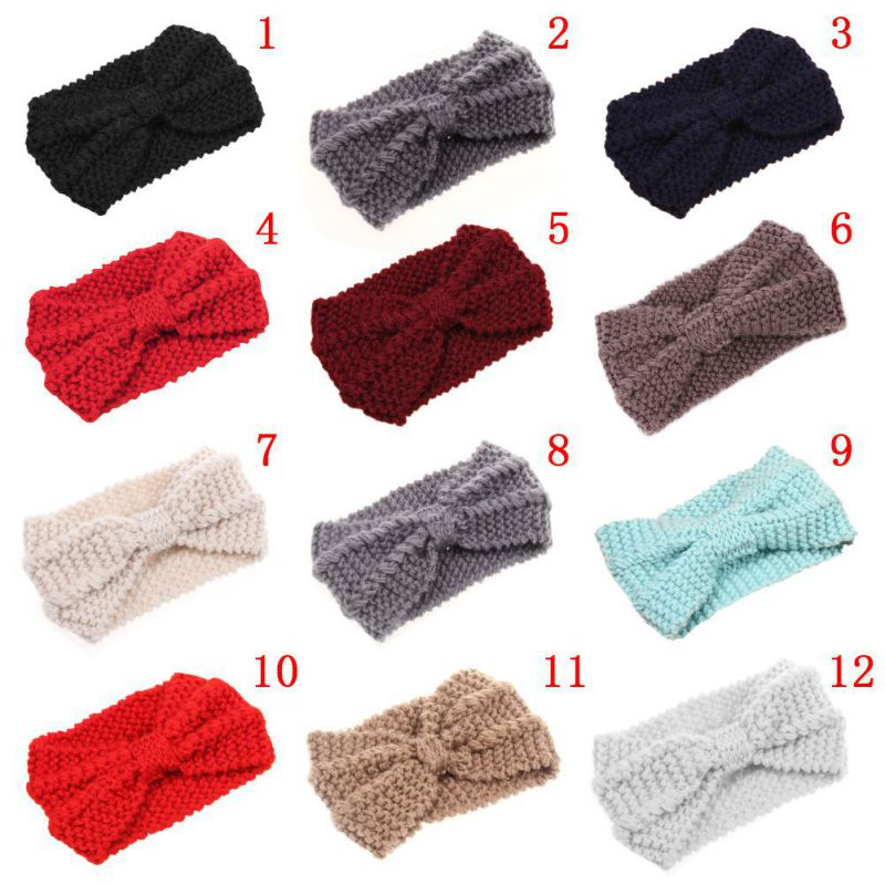 Crochet Hair Towel : ... Turban-Crochet-Twist-Knitted-Headwrap-Headband-Winter-Ear-Warmer-Hair