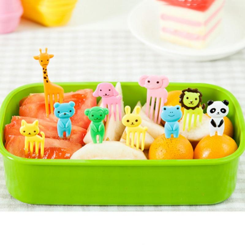 au 10pcs children animal food fruit picks forks bento lunch box decor accessory ebay. Black Bedroom Furniture Sets. Home Design Ideas
