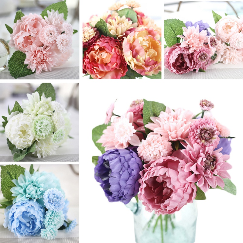 Uk artificial fake silk rose heads flower buds bouquet for Fake flowers for crafts