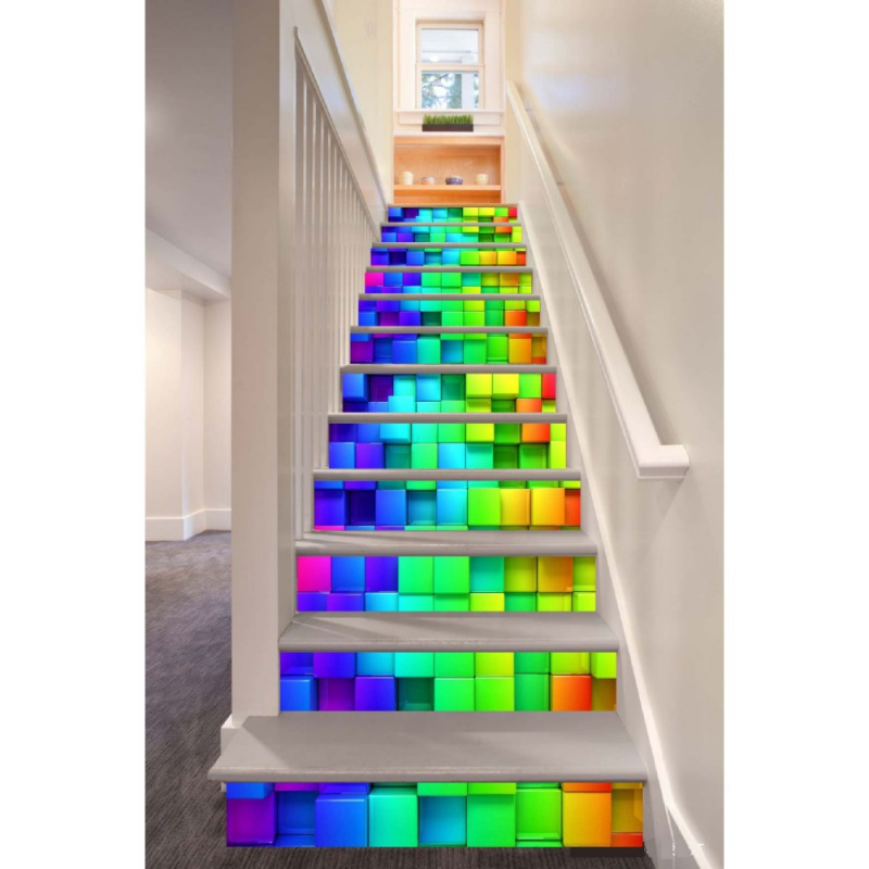 3d entrance stair riser staircase wall sticker photo mural scenery home decal ebay. Black Bedroom Furniture Sets. Home Design Ideas