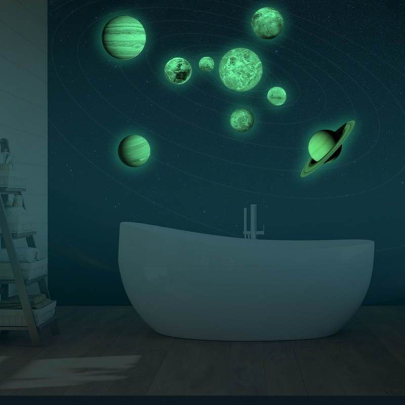 AU Glow In The Dark SOLAR SYSTEM Wall