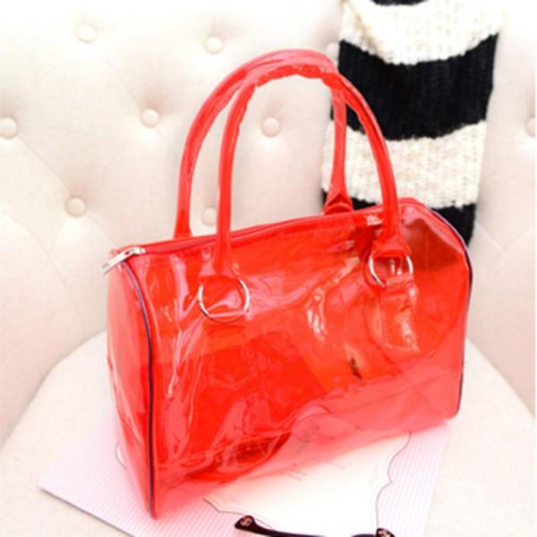 Transparent Handbag Shoulder Bag Clear Jelly Purse Women Clutch PVC Tote Fashion