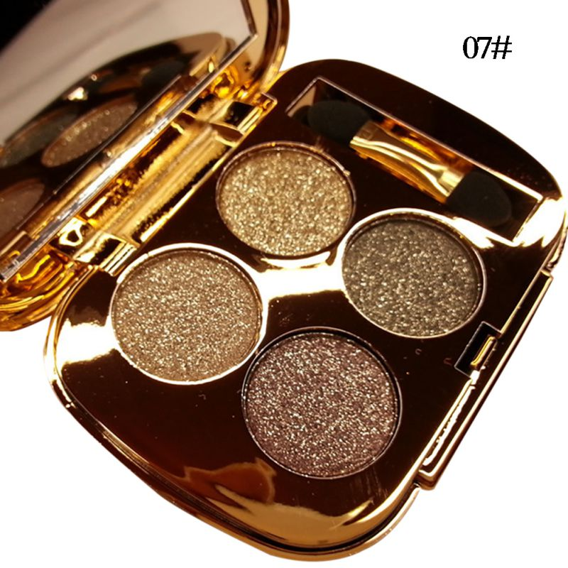 4colors set neutral nude makeup glitter shimmer eyeshadow for Top rated neutral paint colors