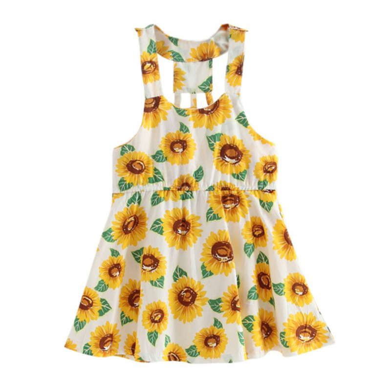Baby-Girl-Dress-Yellow-Sunflower-School-Sundress-Party-Size-Clothes-Outfits-1-6Y