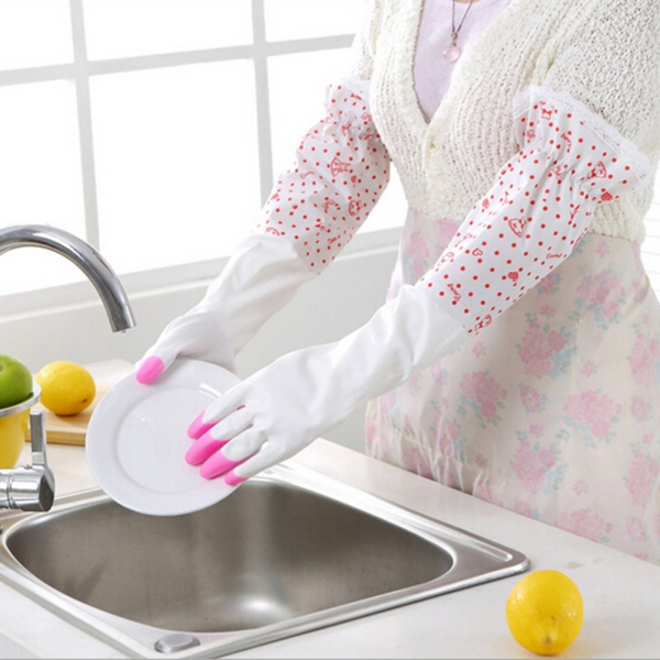 Women 39 S Rubber Long Glove Household Kitchen Arm Dish