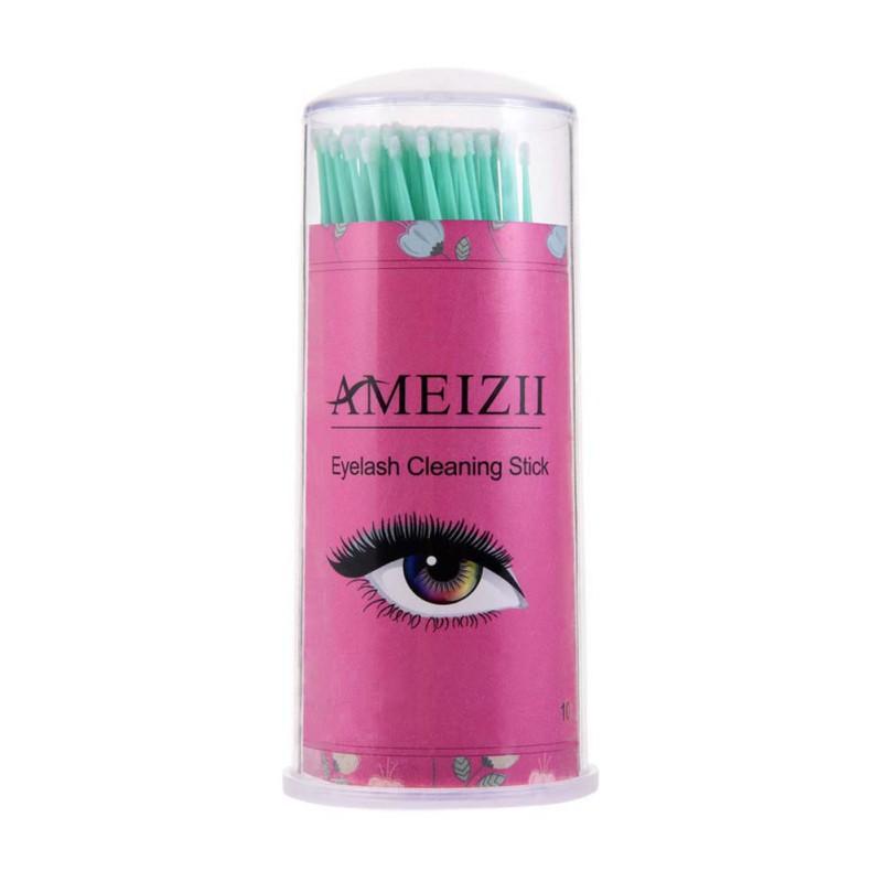 100pcs Disposable Eyelashes Makeup Removal Tools Lash Eyelash