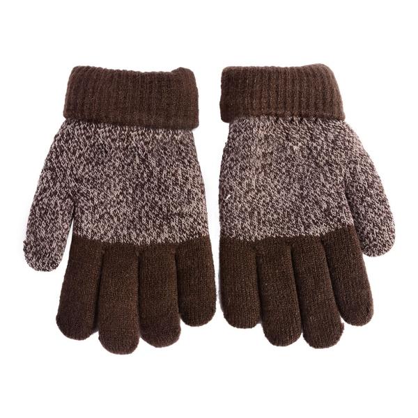 Winter Warm Gloves Baby Boys Girls Knitted Full Finger