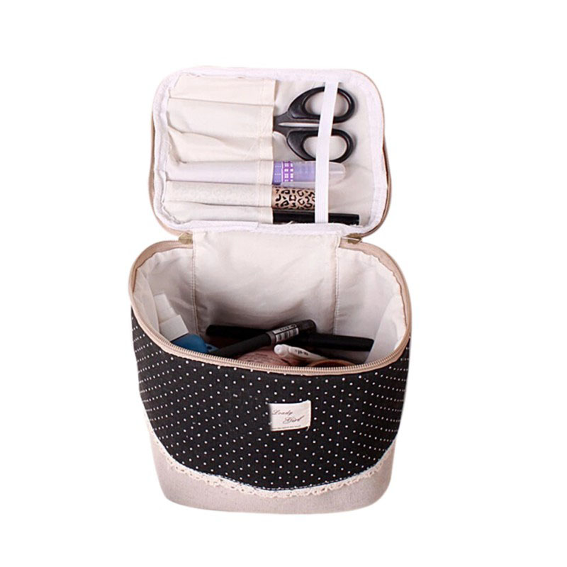 Multifunction Travel Linen Cosmetic Makeup Bag Toiletry