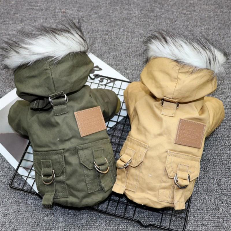 Winter Pet Dog Hoodie Coat Fleece Lined Warm Waterproof Refl