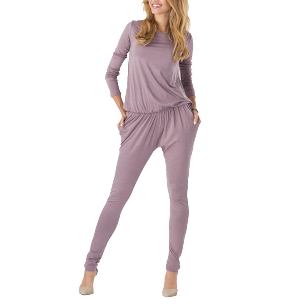 Women Long Sleeve Casual Jumpsuit Romper Beach Trousers Pants Party Clubwear | EBay