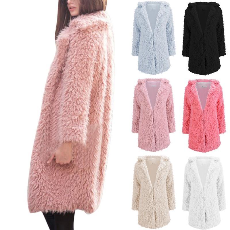 Fresh Women Girl Winter Loose Fluffy Bear Ear Hoodie Hooded Jacket Warm  HV56