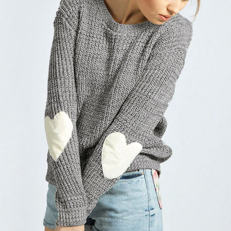 Teenager-Girls-Womens-Knit-Loose-Sweater-Crew-Neck-Pullover-Outwear-Tops-Blouse