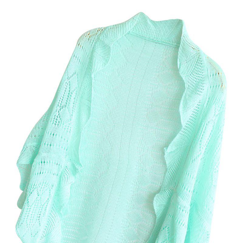 Womens Knitted Coat Cardigan Crochet Kimono Blazer Jacket Tops Shawl 10 ...
