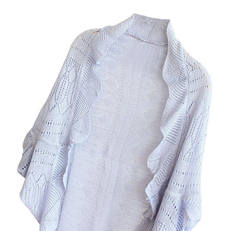 Lady Antumn Half Sleeve Knitted Coat Cardigan Crochet Kimono Blazer Jacket Sh...
