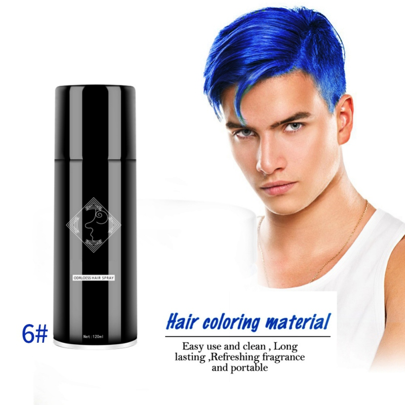 Disposable Hair Coloring Spray Long Lasting Not Hurt 13 Colorful