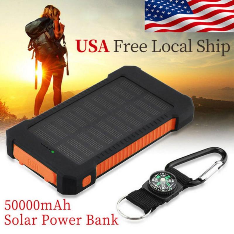 50000mah waterproof solar power bank dual usb