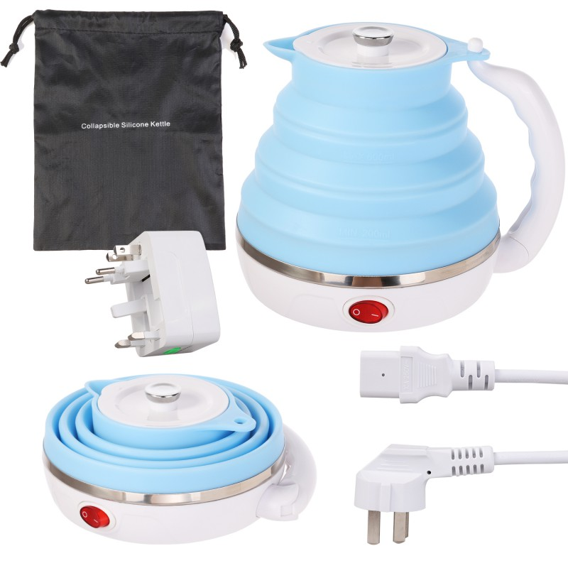 Portable Travel Silicone Water Boiler Electric Kettle Foldab