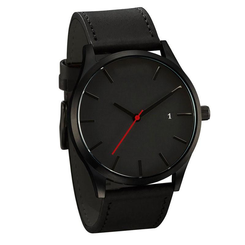 AU-Fashion-Men-039-s-Boys-Leather-Date-Watch-Waterproof-Quartz-Business-Wrist-Watch