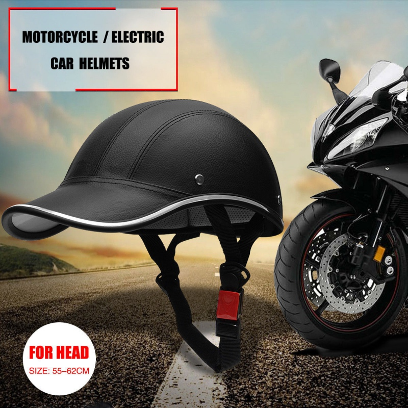 Motorcycle Bike Scooter Half Helmet Baseball Cap Style Hard