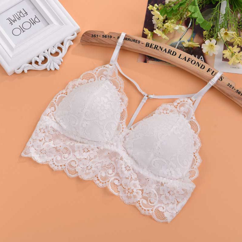 Women 39 s floral sheer lace triangle bralette bra unpadded for Mesh shirt with bralette