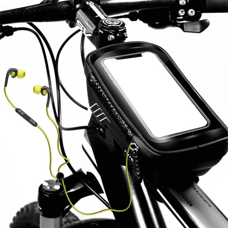 Mountain Bike Bag Rainproof Waterproof MTB Front Bag Phone C