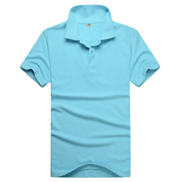 Boys Mens Lapel Shirt Short Sleeve Slim Fit Solid Color