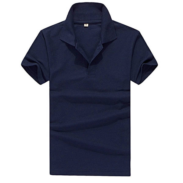 Boys Mens Lapel Polo Shirt Short Sleeve Slim Fit Solid