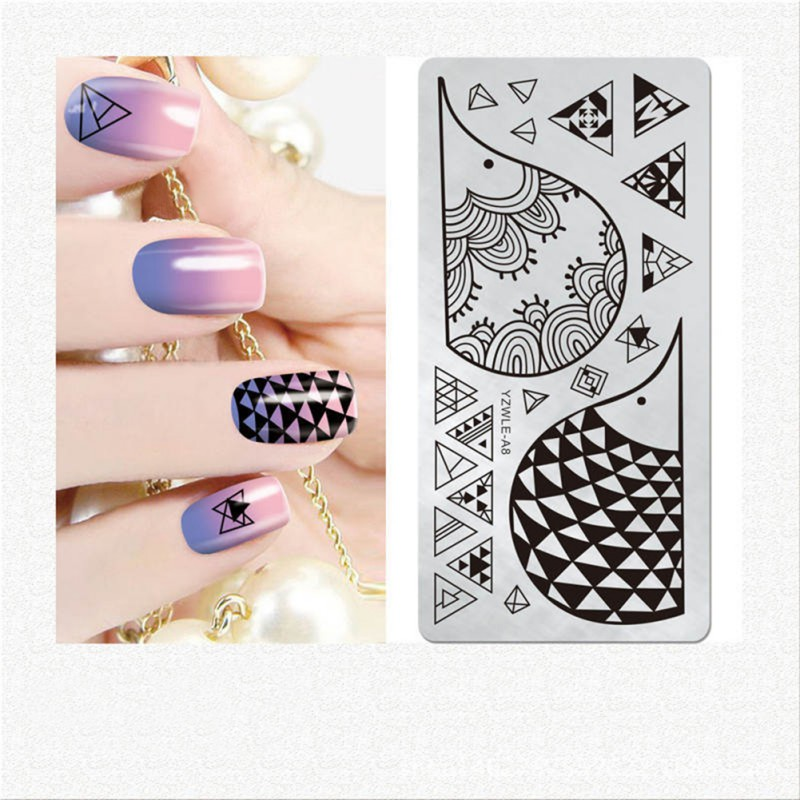 Nail Stamping Image Plate Nail Art Stencil Template Manicure DIY ...
